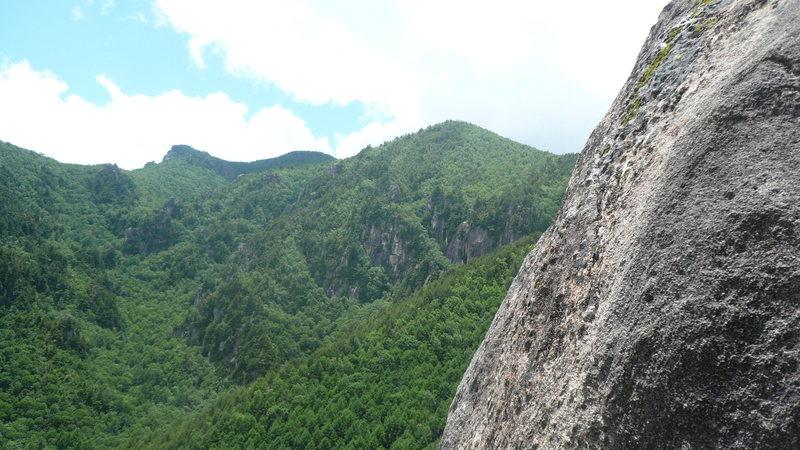 Rock Climbing Photo: midway up