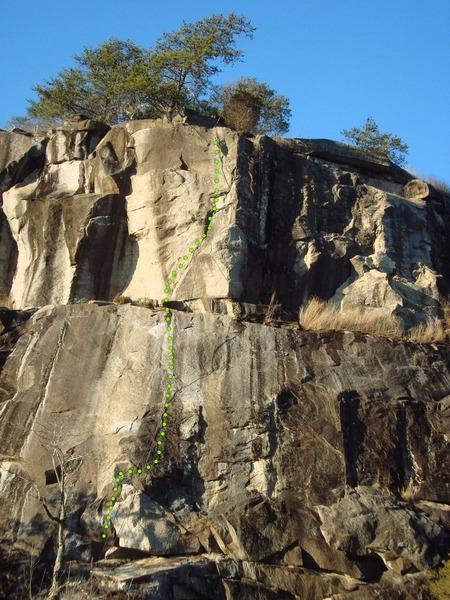 Rock Climbing Photo: Hidden-mite 5.11b/c