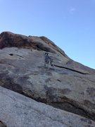 Rock Climbing Photo: Odessa sending Fiddlin' Buckaroo.