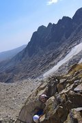 Rock Climbing Photo: On the way up Mt. Toll -- Getting out of the alpin...