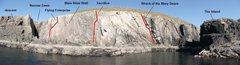 Rock Climbing Photo: Malinbeg main wall