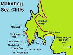 Rock Climbing Photo: Malinbeg Rock Climbing map