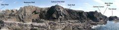 Rock Climbing Photo: Malinbeg climbing area topo