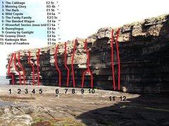 Rock Climbing Photo: Muckross Main Wall