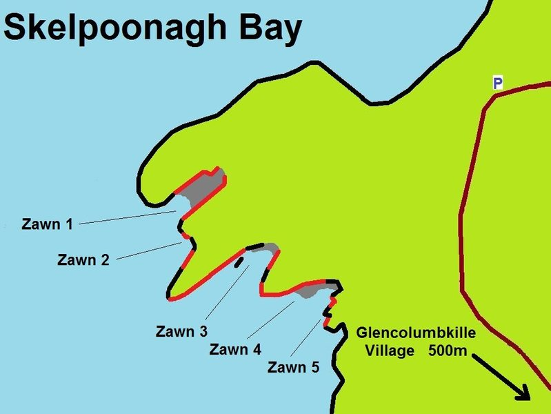 Skelponnagh Bay Rock Climbing map