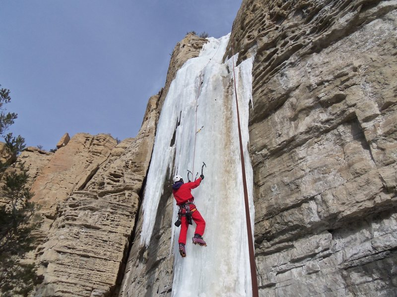 Rock Climbing Photo: Huntington Canyon Ice Seep WI5