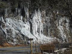 Rock Climbing Photo: road cut across from l.g.f.