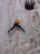 Rock Climbing Photo: Dave Sorric on the Pricicle 12/28/14