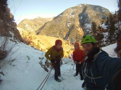 Rock Climbing Photo: Chasing untouched Telluride area canyon ice.