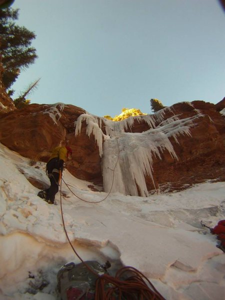 Chasing untouched Telluride area canyon ice!