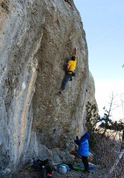 Rock Climbing Photo: Unwrapping The Present, 5.14a, Gorilla Cliffs.