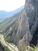 Rock Climbing Photo: Looking across at the Spires and the route Yankee ...
