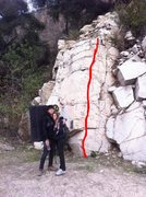 Rock Climbing Photo: dont use the left arete or right crack, face only ...