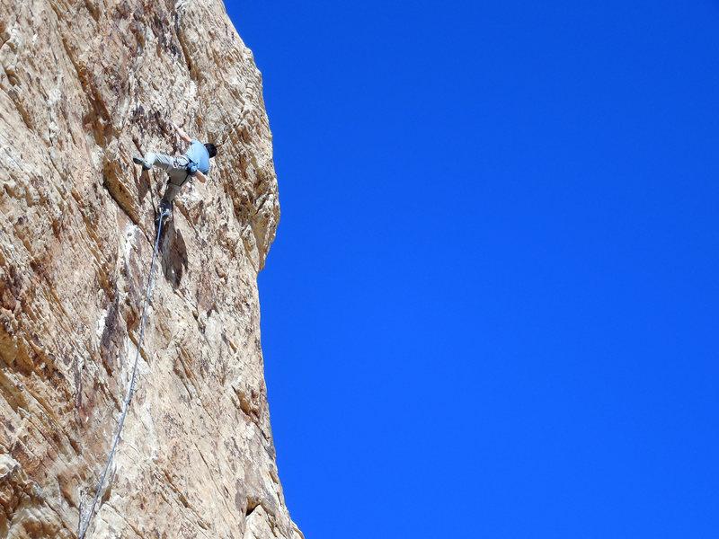 Rock Climbing Photo: Stefan on Dodging a Bullet