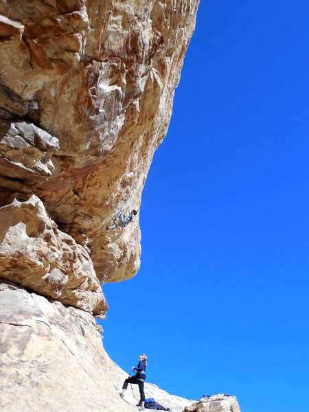Rock Climbing Photo: Starting up Dodging a Bullet