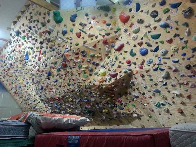 personal rock climbing wall of Rene and Margarita
