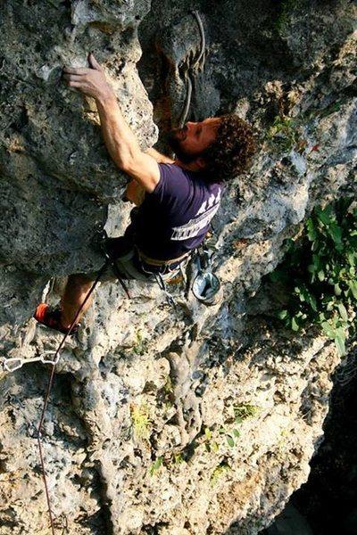 Rock Climbing Photo: Pulling the crux
