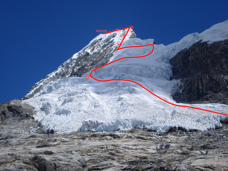 Rock Climbing Photo: The northeast ridge route seen from the hike to th...