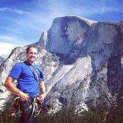 Rock Climbing Photo: Me on the south face of Washington column