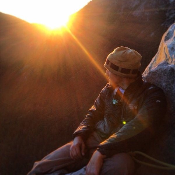 Me on the nose of el cap, this is on camp iv and our second night of the climb