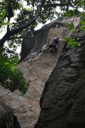 Rock Climbing Photo: Going for the crux.