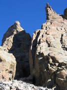 Rock Climbing Photo: Similar photo as previous, exposed for sunlit rock...