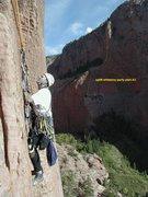 Rock Climbing Photo: A photo from another climber that shows the line o...