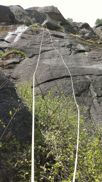 Rock Climbing Photo: top rope set up from the anchors