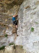 Rock Climbing Photo: 5.9 crack traverse in Austin