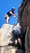 Rock Climbing Photo: Cleaning trad in SD