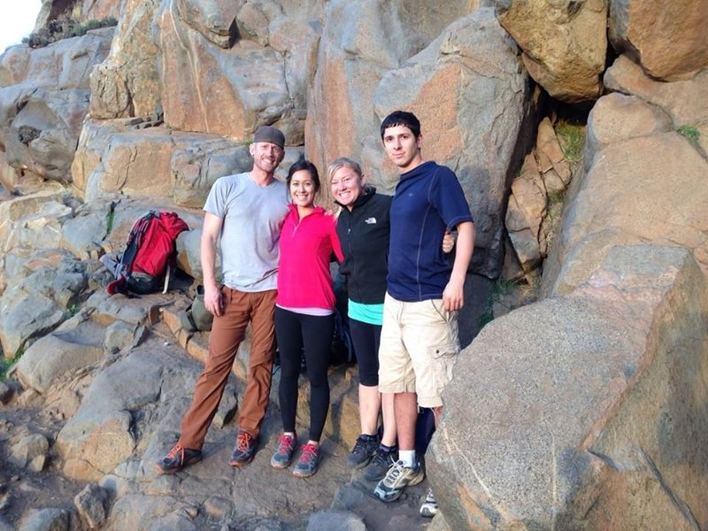 Rock Climbing Photo: The quatro amigos at the end of a long day climbin...