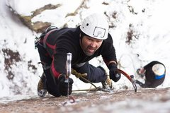 Rock Climbing Photo: Scottie B. heading into cruxville. Photo taken by ...