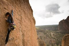 Rock Climbing Photo: leading bound in bogata with a stellar view of the...