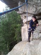 Rock Climbing Photo: first time crossing the perverse traverse