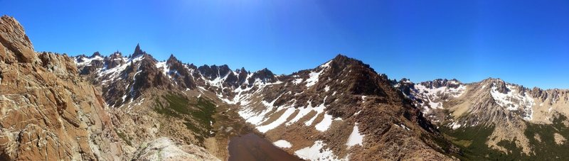 Panaroma from Aguja Frey Summit