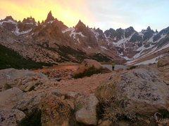 Rock Climbing Photo: Sunset at the Refugio