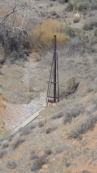 Rock Climbing Photo: Old Pump Structure