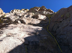 Rock Climbing Photo: Start of the West Face route. Photo Marc Tarnosky.