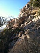 Rock Climbing Photo: This is where you turn off the normal trail to the...