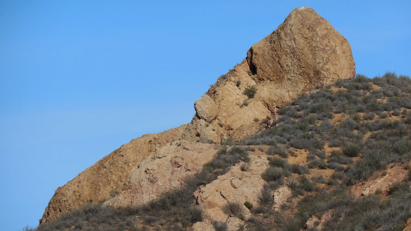 Rock Climbing Photo: The Spur formation in profile.