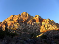 Rock Climbing Photo: very approximate route (white dots mark where the ...