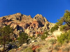 Rock Climbing Photo: heading toward the entrance of the approach gully ...