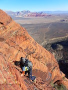 Rock Climbing Photo: From the gully we ended up on a rib that was parti...