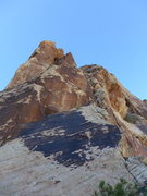 Rock Climbing Photo: the thin slab that starts the tower second from th...