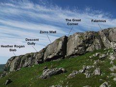 Rock Climbing Photo: Cnoc na Affrain crag Topo