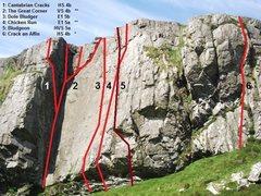 Rock Climbing Photo: The great Corner Topo