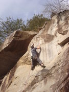 Rock Climbing Photo: Moving into the second crux of Hilliard Step.
