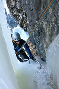 Rock Climbing Photo: Eric finishing first pitch