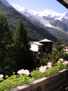 viem on Mont Blanc from balcony