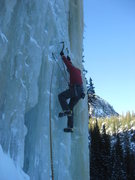 Rock Climbing Photo: Loch Vale Ice - Loch Ness Monster (Crystal Meth). ...